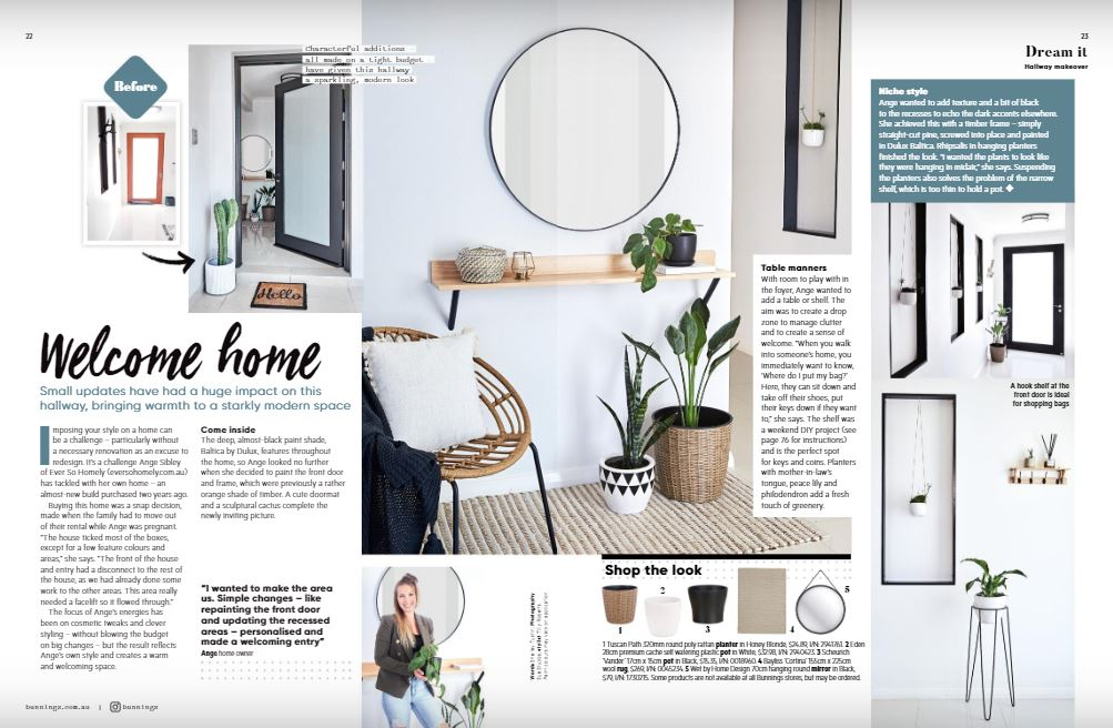 Home Entry Makeover with Bunnings Magazine