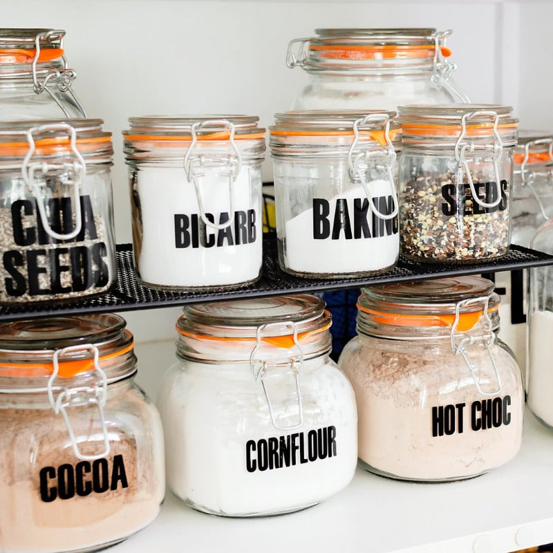 DIY Glass Jar Labels