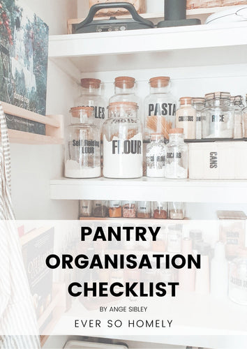 PANTRY ORGANISATION CHECKLIST