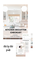 Load image into Gallery viewer, KITCHEN DECLUTTER CHECKLIST & GUIDE