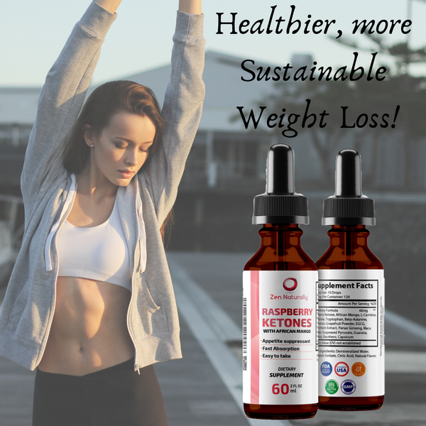 Raspberry Ketone Drops with African Mango - 1 bottle is a 40 day supply