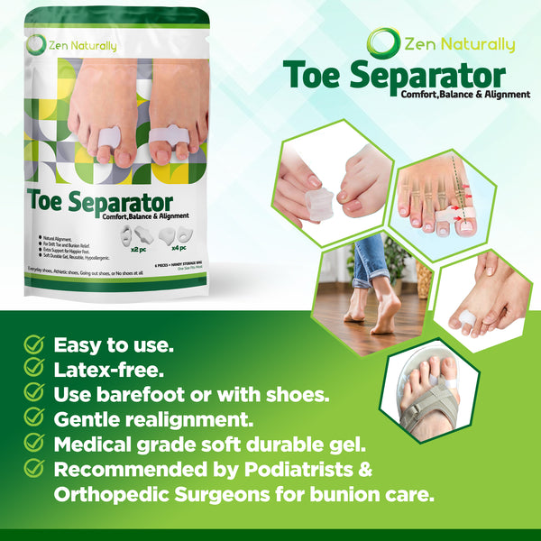 Orthopedic Bunion Corrector - Toe Separators Help Provide Bunion Relief