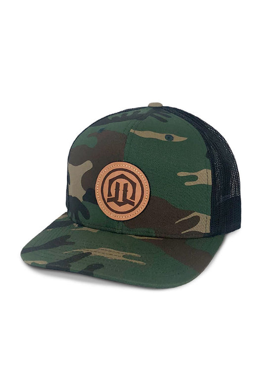 Leather Boltmark - Camo Flatbrim