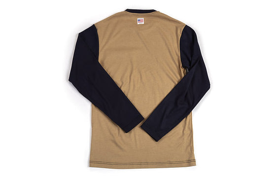 Long Sleeve FR Shirt Khaki/Blue