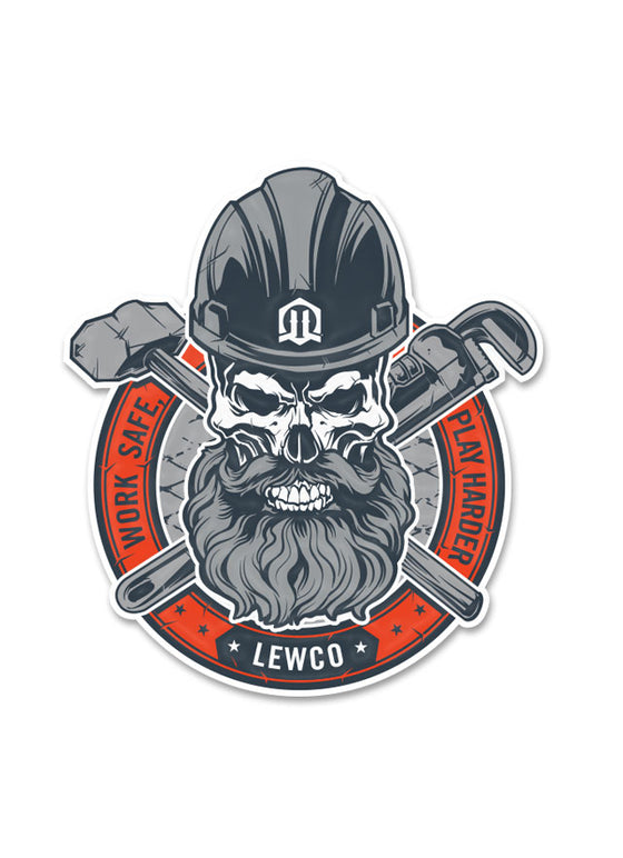 Lewco Skull Sticker