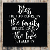 Bless the Food Before Us - Canvas Sign