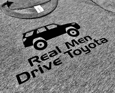 Real Men Drive Toyota T-shirt - Different Trends