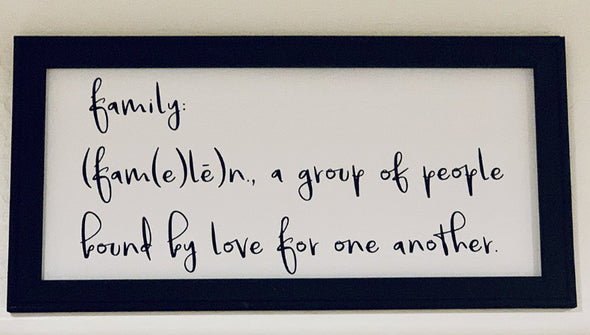Family - Group of People Bound By Love - Canvas Sign - Different Trends