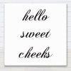 Hello Sweet Cheeks - Bathroom Canvas Sign