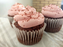 Load image into Gallery viewer, Chocolate Pomegranate Cupcakes 8-pack