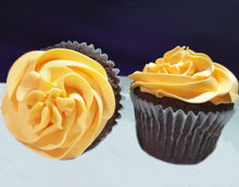 Load image into Gallery viewer, Orange Chocolate Cupcakes 8-pack