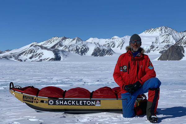 Lou Rudd Beside Shackleton Pulk