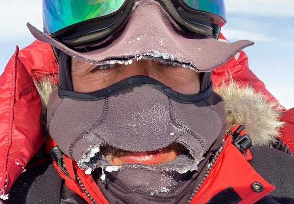 Lou Covered Face Antarctica