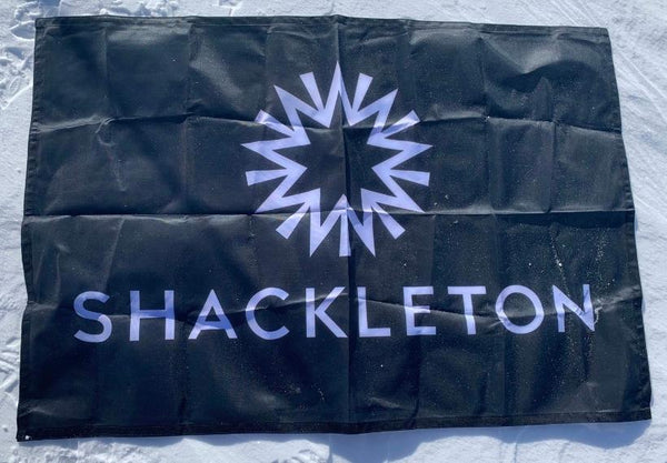 Shackleton Flag On Ice