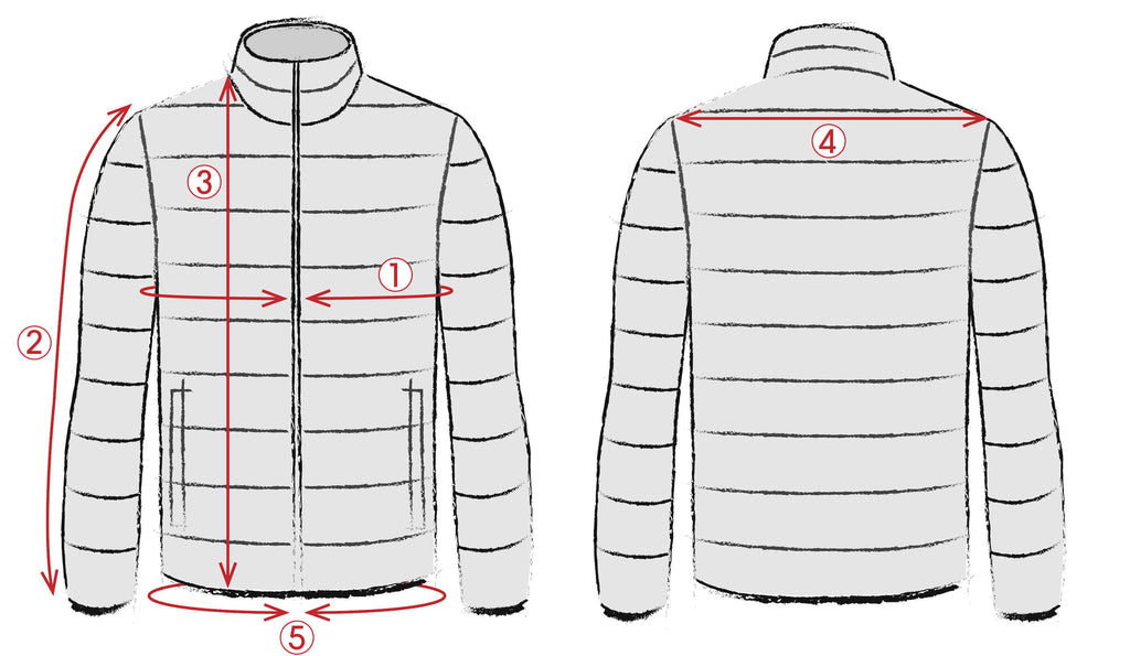 Outerwear measurements