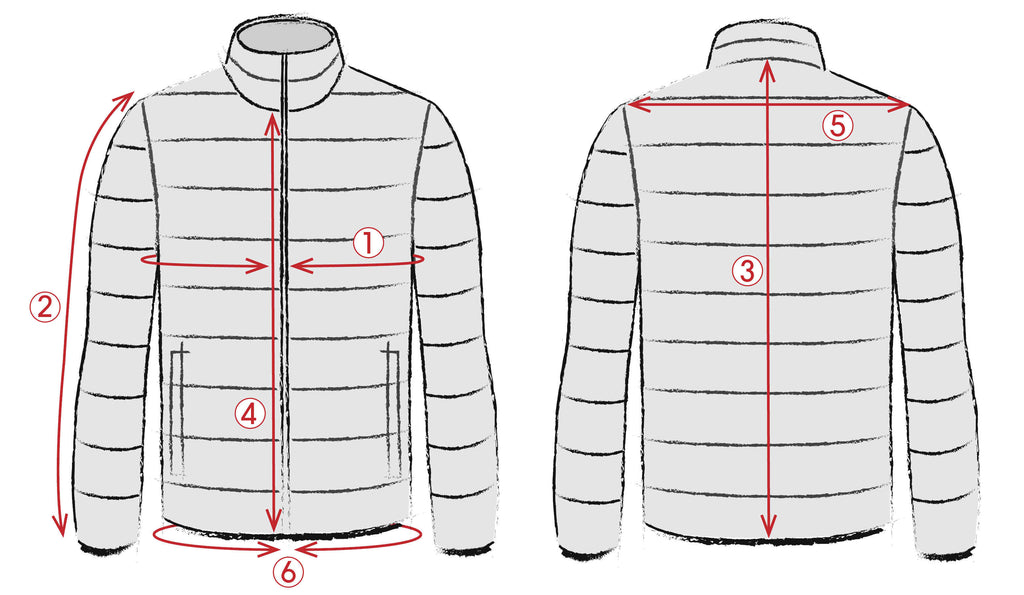 Outerwear size guide