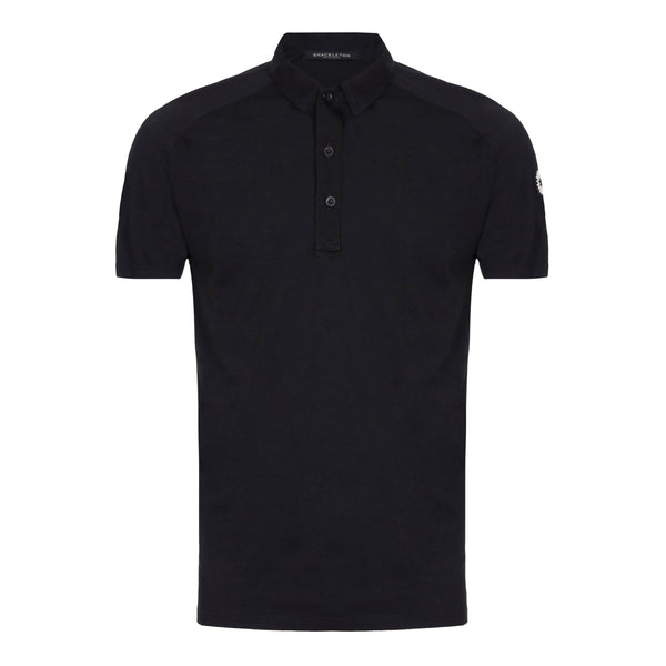 Sears Performance black buttoned polo shirt by Shackleton