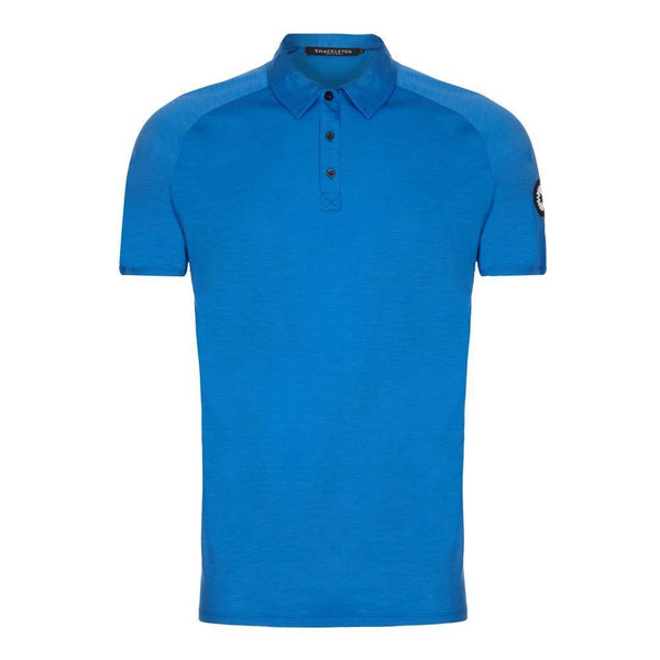 Blue Sears Performance buttoned polo shirt from Shackleton