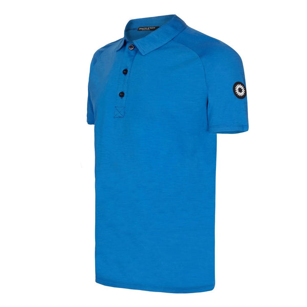 Sears Performance blue buttoned polo shirt by Shackleton