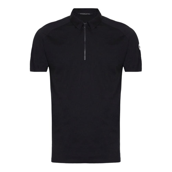 Rudd Performance zip polo shirt by Shackleton in black