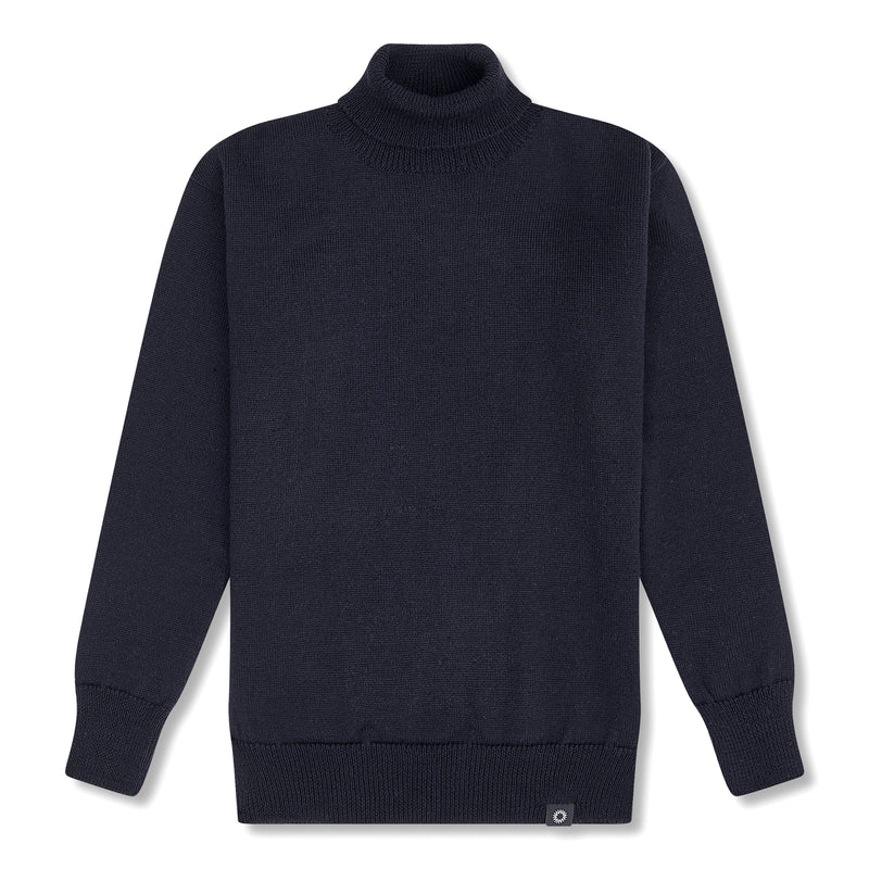 Submariner Roll Neck Sweater - Light Grey