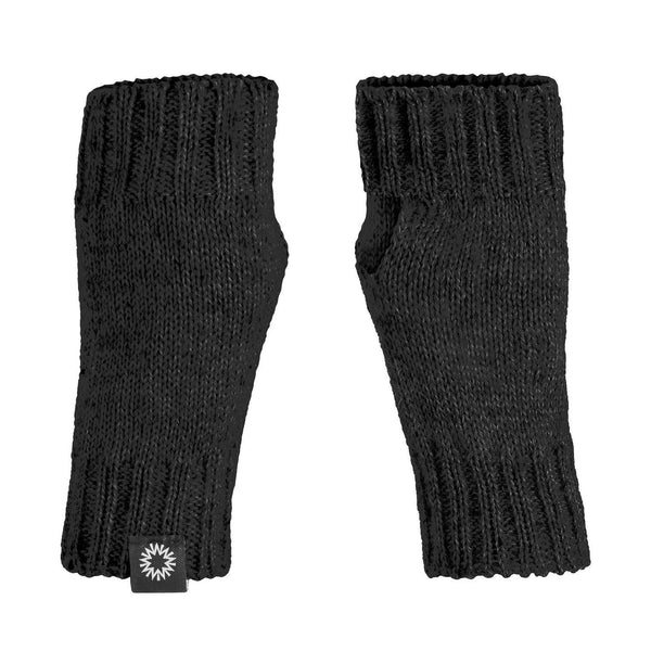Charcoal wrist warmer fingerless gloves