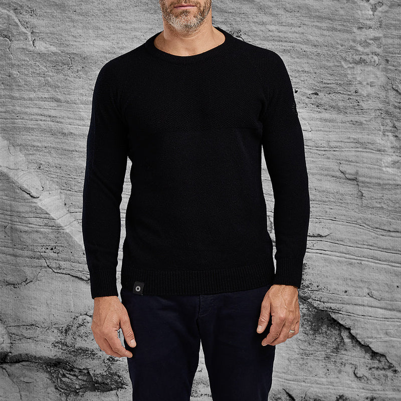 Shackleton Dulwich Lambswool Sweater | Black