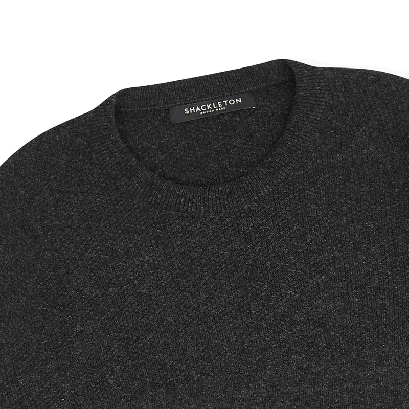 Shackleton Dulwich Lambswool Sweater | Charcoal