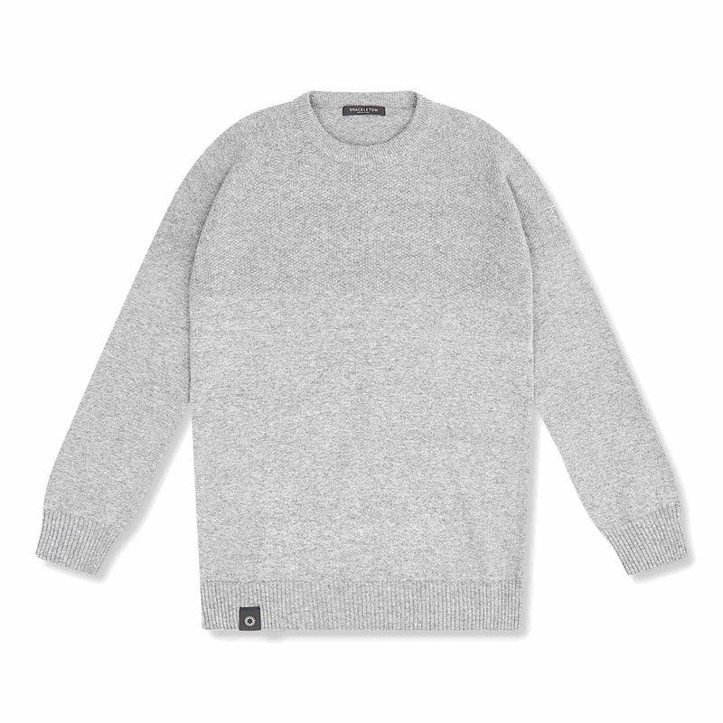 Shackleton Dulwich Lambswool Sweater | Light Grey