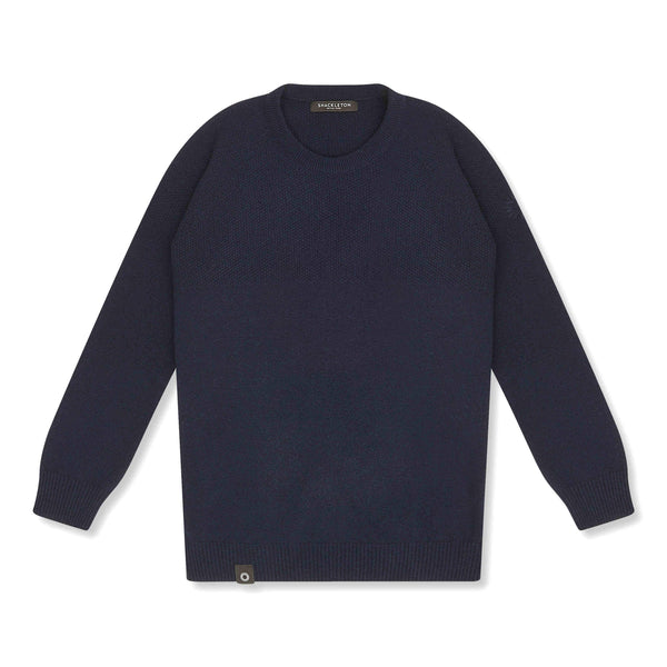 Navy blue Dulwich sweater from Shackleton