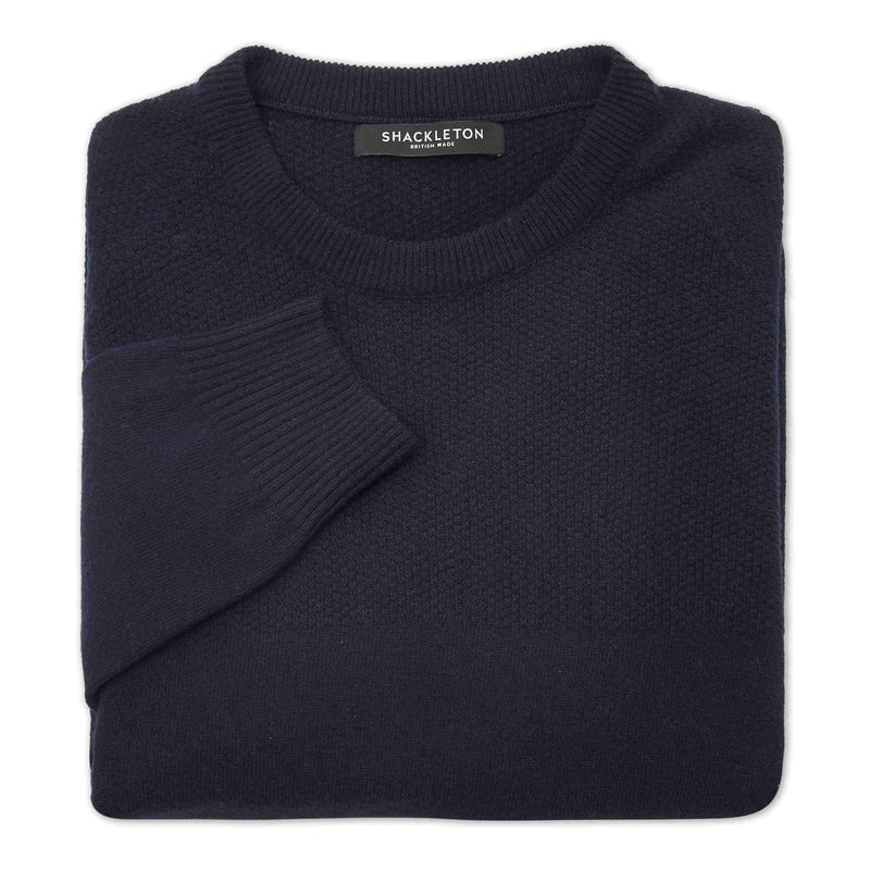 Shackleton Dulwich Lambswool Sweater | Navy