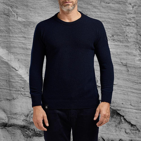 Woolen Dulwich sweater by Shackleton in navy blue