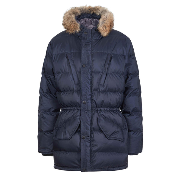 Shackleton Endurance parka jacket in navy blue