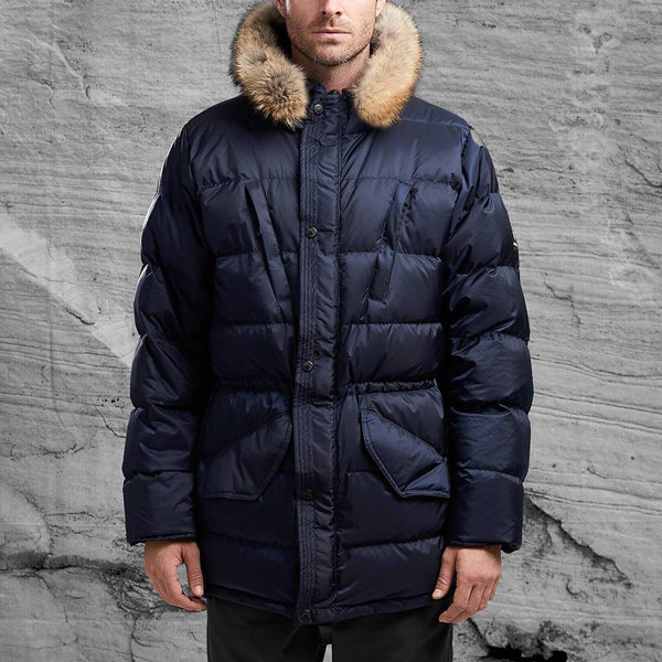 Shackleton Endurance goose down jacket in Navy