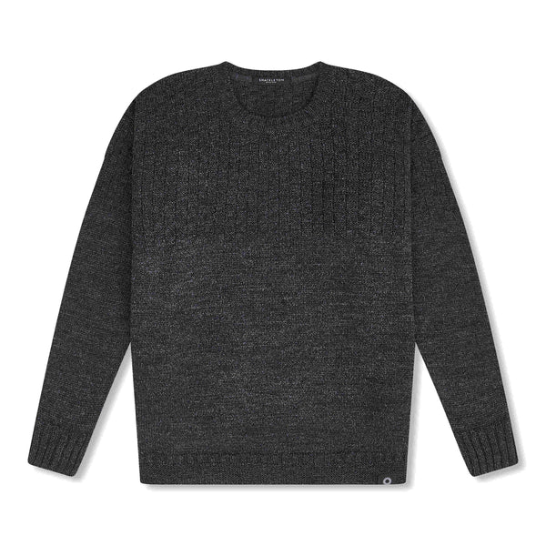 Charcoal grey Ernest sweater by Shackleton