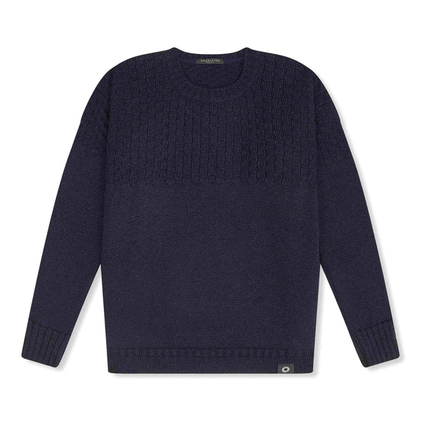 Navy Ernest sweater by Shackleton