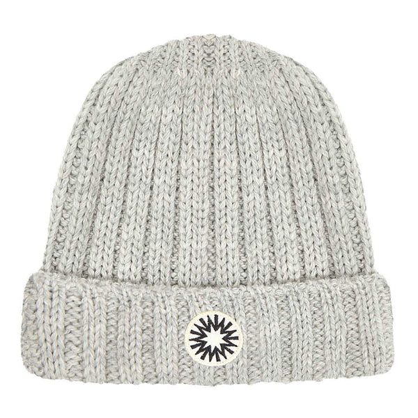 Grey Fisherman's knitted beanie by Shackleton