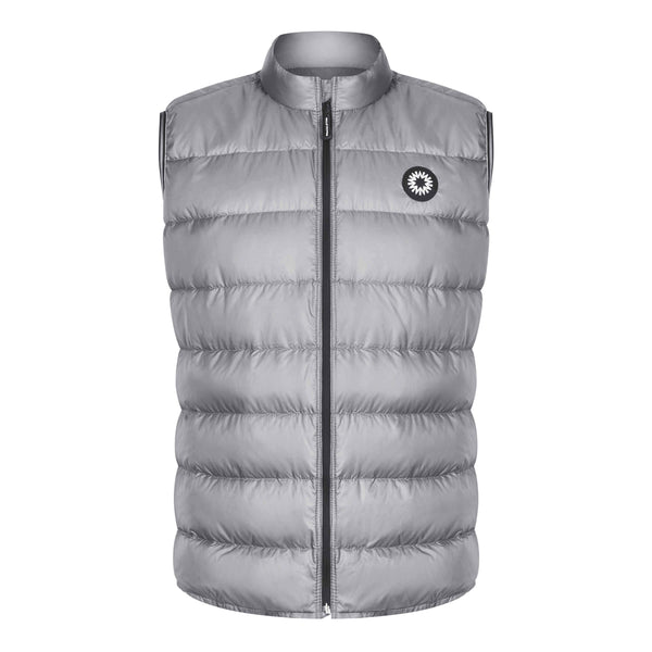 Charcoal grey Fortuna down gilet