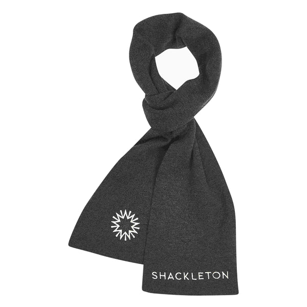 Charcoal grey scarf from Shackleton made from 100% Merino wool