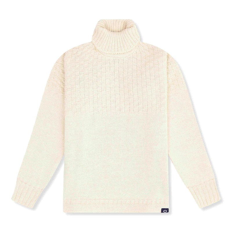 Cream lambswool signature sweater