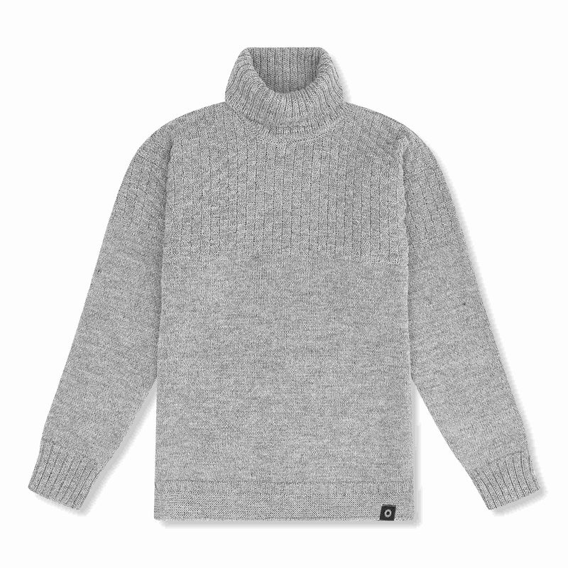Grey lambs wool Signature Sweater
