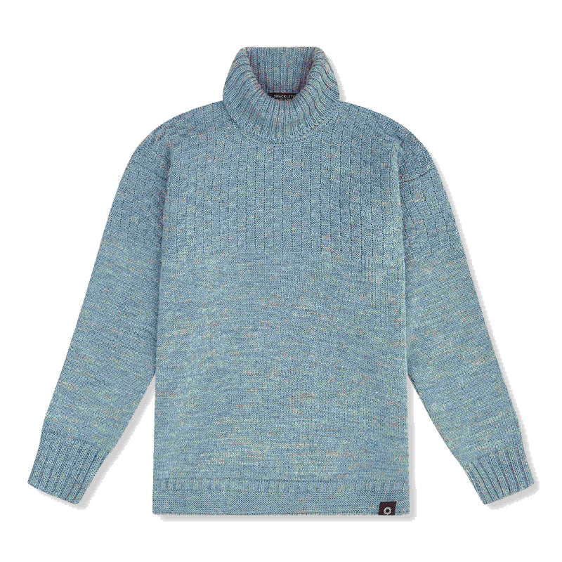 Light blue lambs wool Signature Sweater