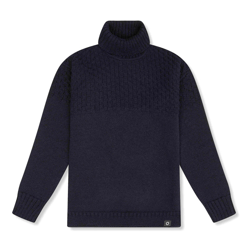 Navy lambs wool Signature Sweater