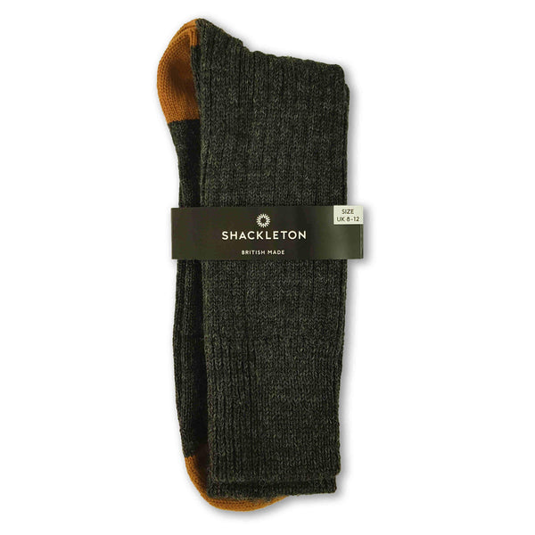 Charcoal and burnt orange boot socks
