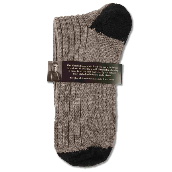 Wool boot socks in light grey and navy blue