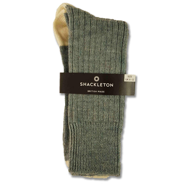 Shackleton sock in light blue and cream
