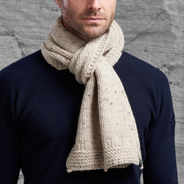 Natural Soft Wash Wool Scarf from Shackleton