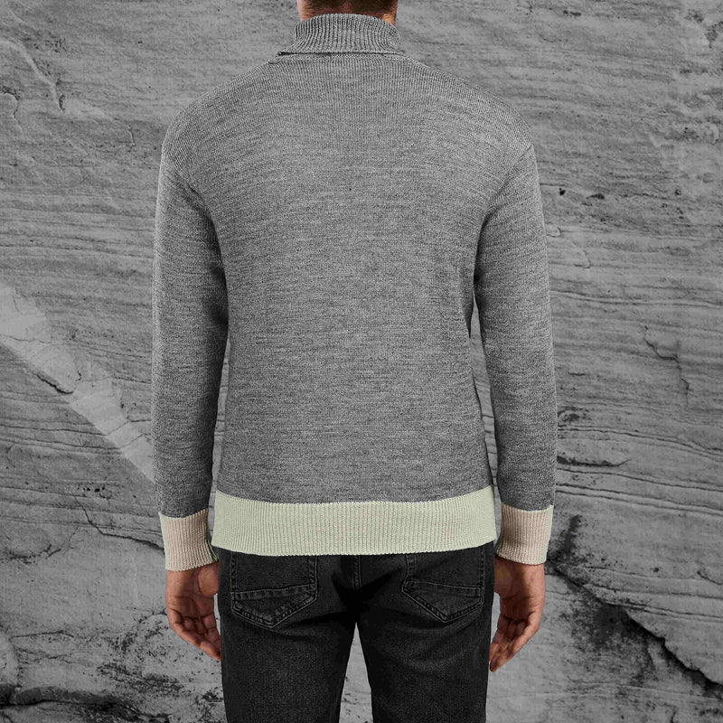Shackleton Submariner Lambswool Roll Neck Sweater | Light Grey