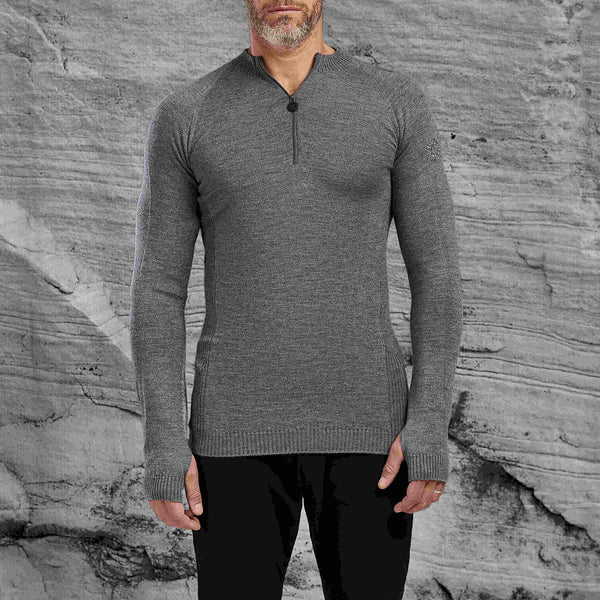 The Upton half zip sweater from Shackleton grey