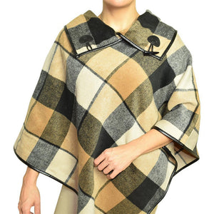 ClaudiaG Plaid Shawl